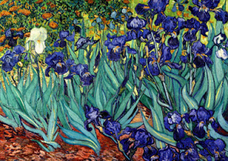 Iris, Saint-Rémy,  Van Gogh, oil on canvas, 1889 (Image courtesy of the J. Paul Getty Museum, Los Angeles)