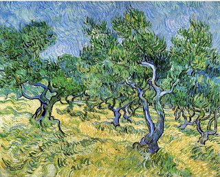 Olive Grove,  oil on canvas, Van Gogh, 1889, (Image courtesy of Rijksmuseum Kröller-Müller, Netherlands)