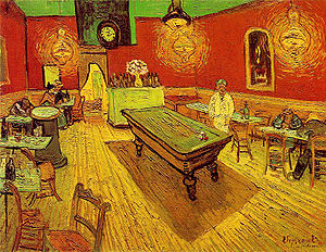 The Night Café,  Vincent Van Gogh, 1888, oil on canvas (Image courtesy of the Yale University art Gallery, New Haven)