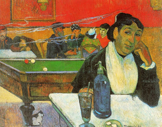 Night Café at Arles (Mme.Ginoux),  Paul Gauguin, 1888, oil on canvas, (Image courtesy of Pushkin Museum, Moscow)
