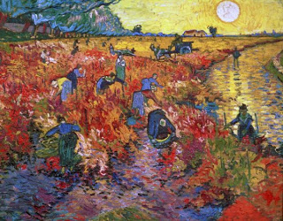 The Red Vineyard at Arles,  Vincent Van Gogh, 1888, oil, on canvas (Image courtesy of the Puskin Museum of Fine Arts, Moscow)
