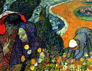 Ladies of Arles (Memories of the Garden at Etten), Vincent Van Gogh,  oil on canvas, 1888, (Image courtesy of the Hermitage Museum, St. Petersburg)