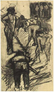 Diggers in Torn-up Street,   The Hague , pencil, April 1882 (Image courtesy of the Van Gogh Museum, The Netherlands)