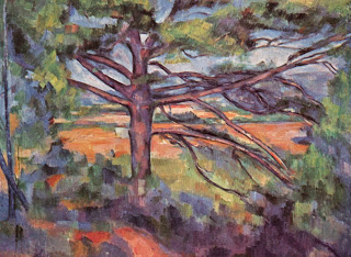 Large Pine and Red Earth , oil on canvas, Paul Cezanne (1890-95). Image courtesy of the Hermitage Museum, St. Petersbourg