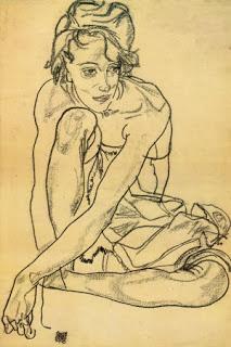 Egon Schiele, Crouching Woman, 1918