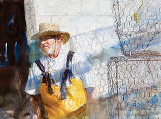 Trap , Crabber, Pinpoint, GA, watercolour on paper, 2008, 30 x 38, image courtesy of Mary Whyte