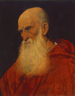 Portrait of an Old Man (Pietro Cardinal Bembo),  Titian, 1546  , Image courtesy of  Museum of Fine Arts (Budapest)