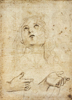 Raphael - Study for St. Thomas 1502-03