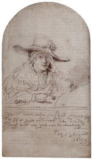 Rembrandt - His fiancee, Saskia, 1733