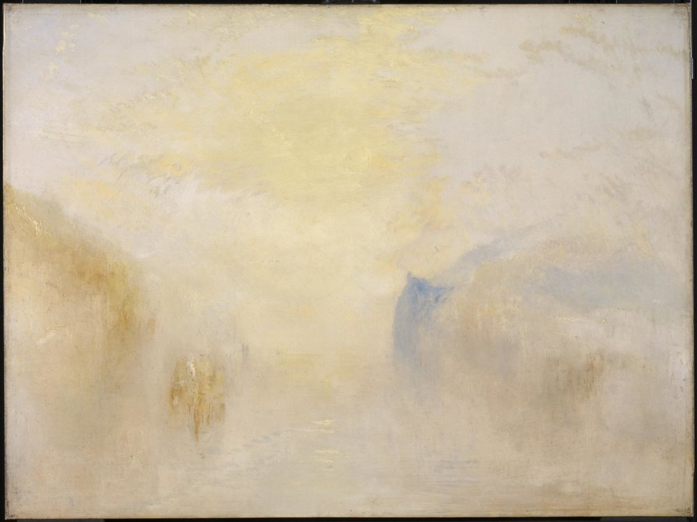 Sunrise, with a Boat between Headlands,  1835, J.M.W. Turner (Image courtesy of the Tate.org.uk)