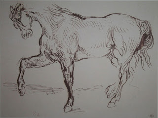 Study of a horse, Eugene Delacroix