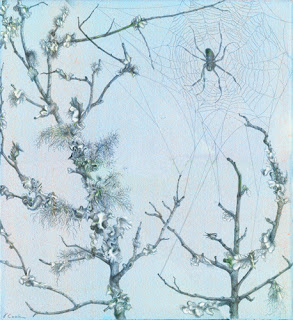 Come into my Garden!   ,  silverpoint and white gouache highlights, Jeannine Cook artist