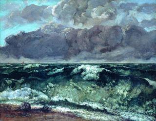 The Wave,  1870, Gustave Courbet,(Image courtesy of Staatliche Museen zu Berlin, Nationalgalerie)