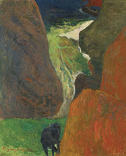 Seascape with cow/At the edge of the cliff, 1888 , Paul Gauguin, (Image courtesy of the Musee d'Orsay, Paris)