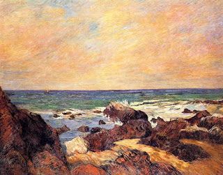 Rochers au bord de la Mer, 1886, Paul Gauguin, oil on canvas, (Image courtesy of Goteborgs Konstmuseum, Sweden)