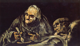 Viejos comiendo sopa, Francisco Goya, (Image courtesy of the Prado Museum)