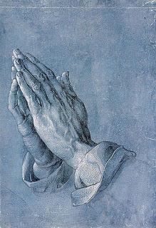 Hands of an Apostle,  Albrecht Dürer, (image courtesy of GraphischeSammlung Albertina).