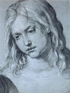 Twelve-year Old Christ , drawing, Albrecht  Dürer (image at right courtesy of the GraphischeSammlung Albertina).