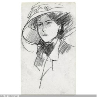 Anne Estelle Rice,  drawing, John Duncan Fergusson