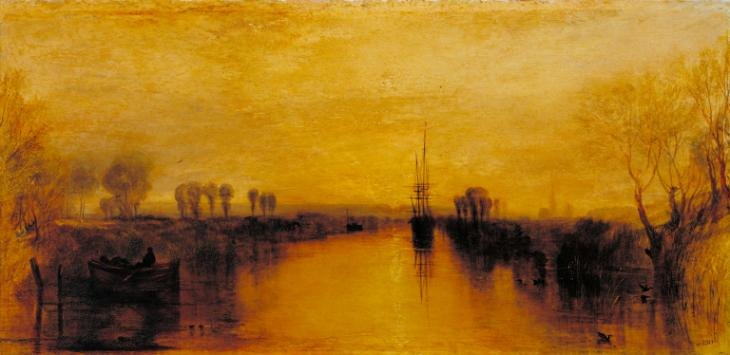 Chichester Canal,  Joseph Mallord William Turner circa 1829 (Image courtesy of the Tate Collection).