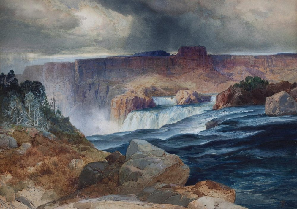 Shoshone Falls, Idaho,  1873-74,   thomas Moran,  (image courtesy of the Chrysler Museum of Art).