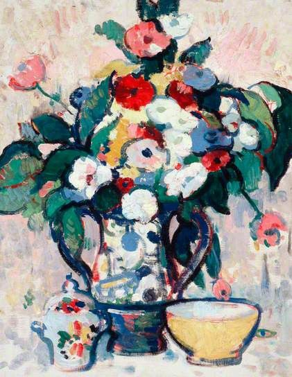 Still Life, oil on canvas,  Anne Estelle Rice