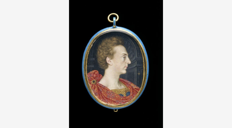 Henry Frederick, Prince of Wales, miniature portrait done about 1606 by Isaac Oliver (1558/68-1617), Image courtesy of the   Fitzwilliam    Museum
