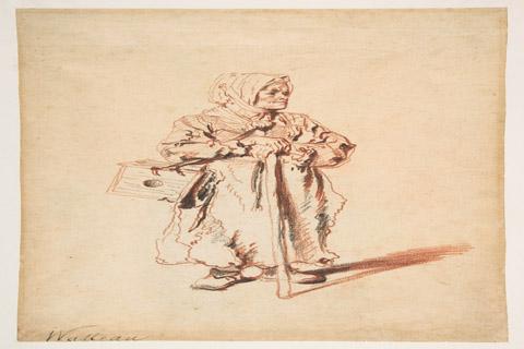 Standing Savoyarde with a Marmot Box, Antoine Watteau