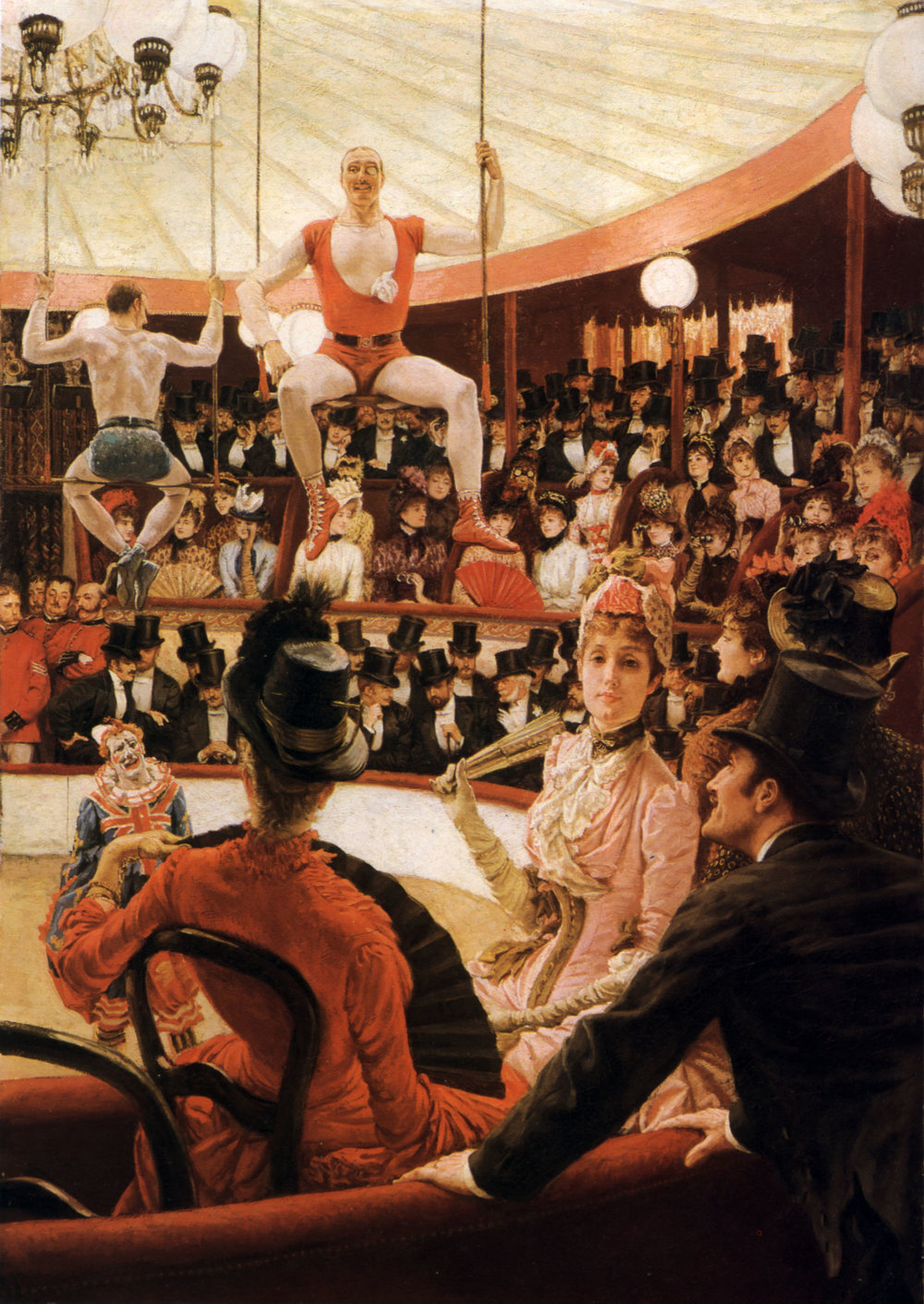 Women of Paris, the Circus Lover , James Tissot, 1883-85, (Image courtesy of the Museum of Fine Arts, Boston)