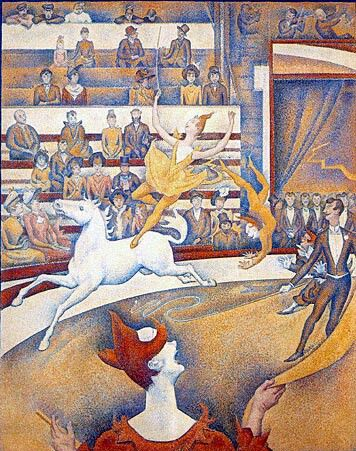 The Circus,   1890-91,  Georges Seurat,  ( image courtesy of the Museé d'Orsay)