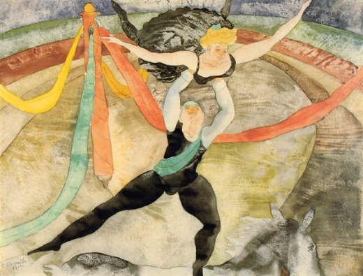 The Circus, 1917, watercolour and graphite, Charles Demuth, (Image courtesy of the Columbus Museum of Art)
