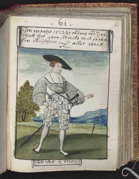 Schwarz, Matthäus, Trachtenbuch des Matthaus Schwarz aus Augsburg,