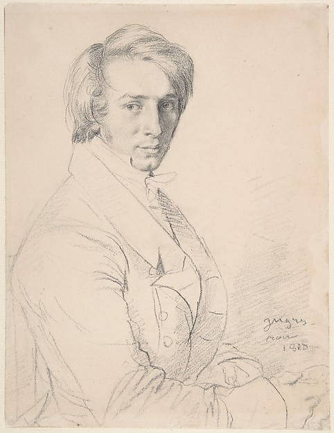Urson Jules Vatinelle (1788-1881) 1820, graphite on paper, Jean Auguste Dominque Ingres, (Image courtesy of the Metropolitan Museum, New York)