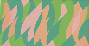 Apricot and Pink, oil on linen, 2001, Bridget Riley (Image courtesy of the artist)