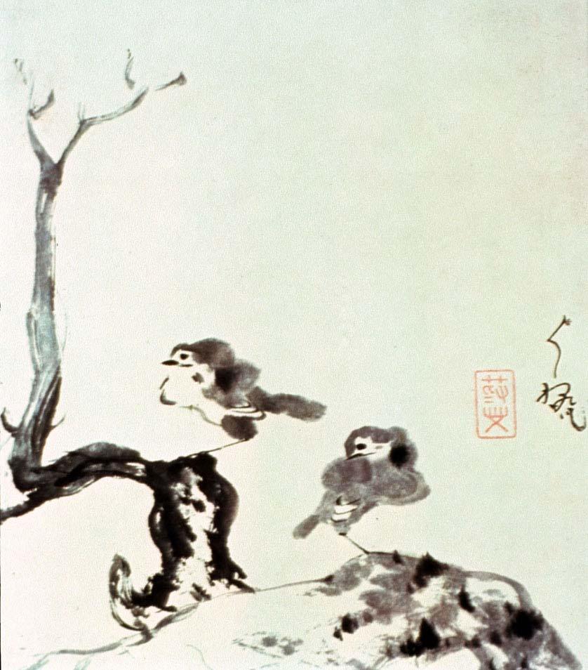 Two Birds,  Bada Shanren, 1705