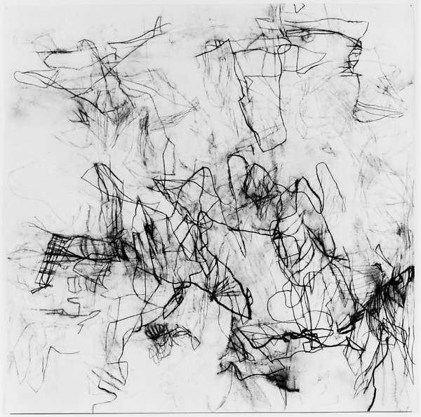 Untitled, charcoal and rabbit skin glue on paper, 2000, Christine Hiebert, (Image courtesy of the Metropolitan Museum, New York)