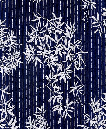 Bamboo Indigo  Katagami  Fabric