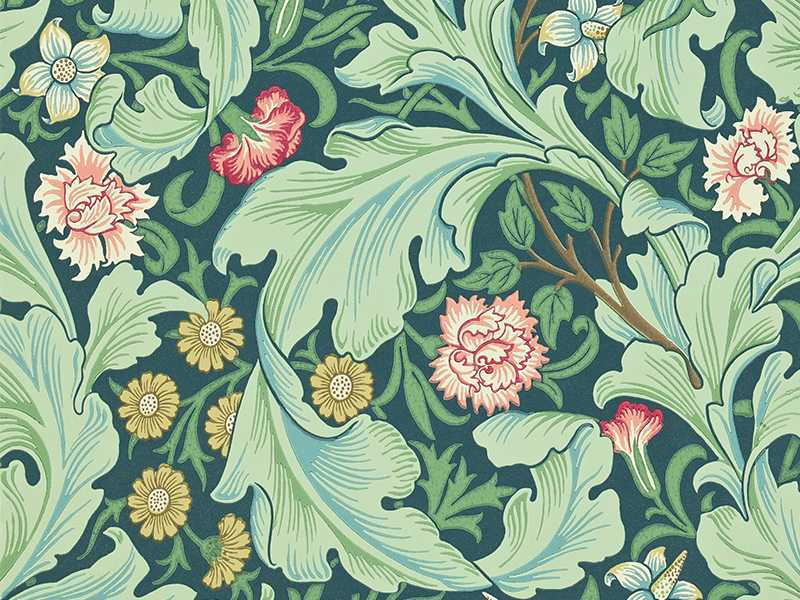 William Morris-inspired wallpaper