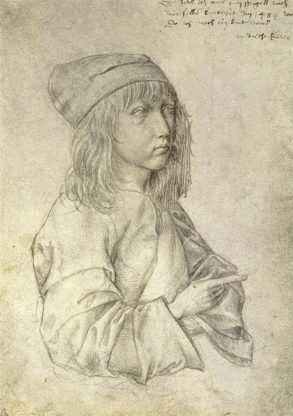 Self Portrait at 13, silverpoint, Albrecht Dürer (Image courtesy of the Albertina Vienna)