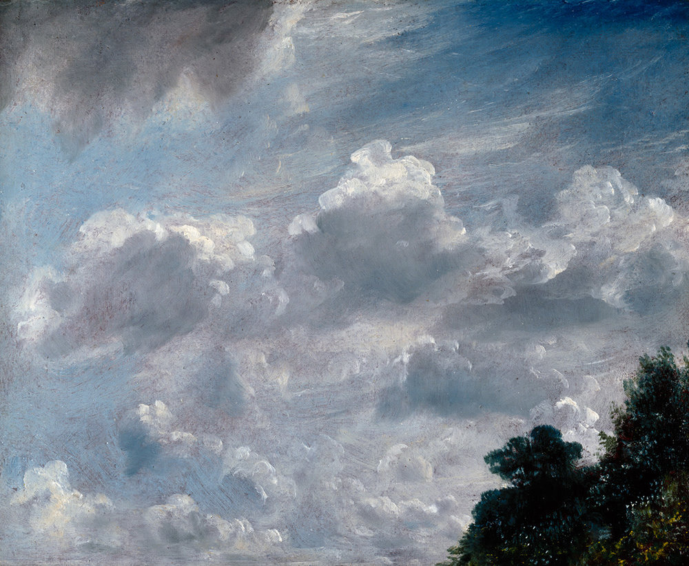 John Constable RA, Cloud Study, Hampstead, Tree at Right, 1821. (Image courtesy of the Royal Academy)