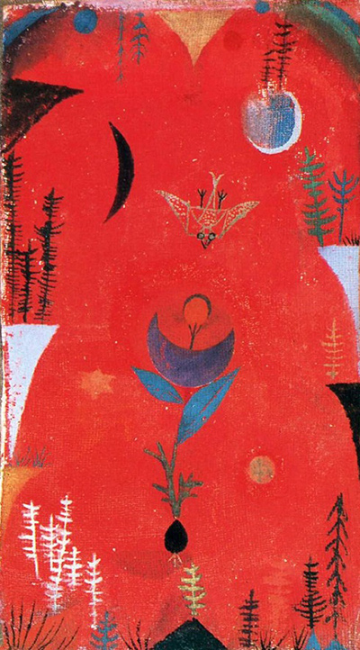 Flower Myth,  1918, Paul Klee,  ( Image courtesy of the Sprengel Museum, Hannover, Germ any  ).