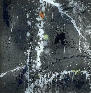 Wind and Water', color soap ground, aquatint with soap ground , aquatint reversal, spit bite aquatint and drypoint, Pat Steir, 1996 (Image courtesy of the artist)