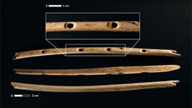 35,000 year old bone flutes from Hohle Fels