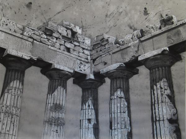 Selinunte I  (mixed media, 38×50), Ephraim Rubenstein (Image courtesy of Artists Network)