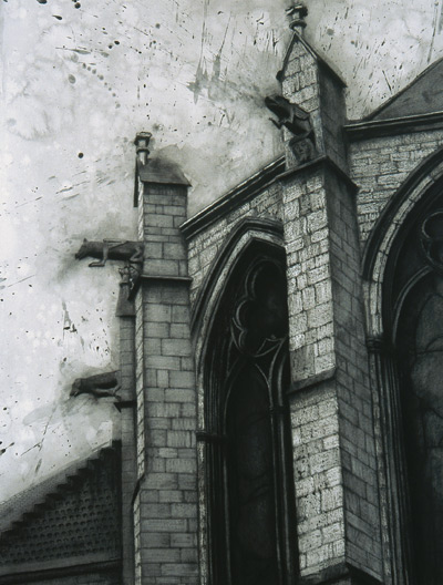 Cathedral VII  (mixed media, 38×50), Ephraim Rubenstein, (Image courtesy of Artists Network)