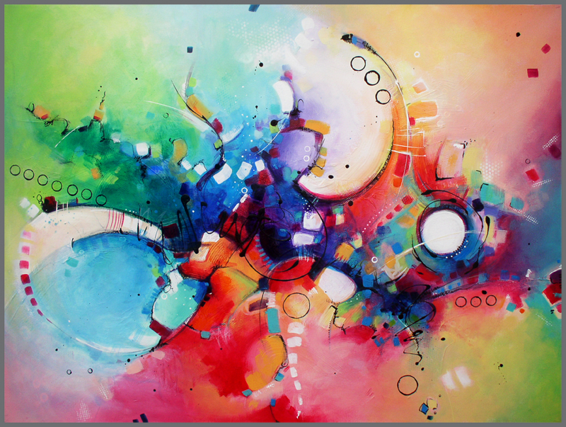 The Joy of Color, acrylic, San-T (Image courtesy of the artist)