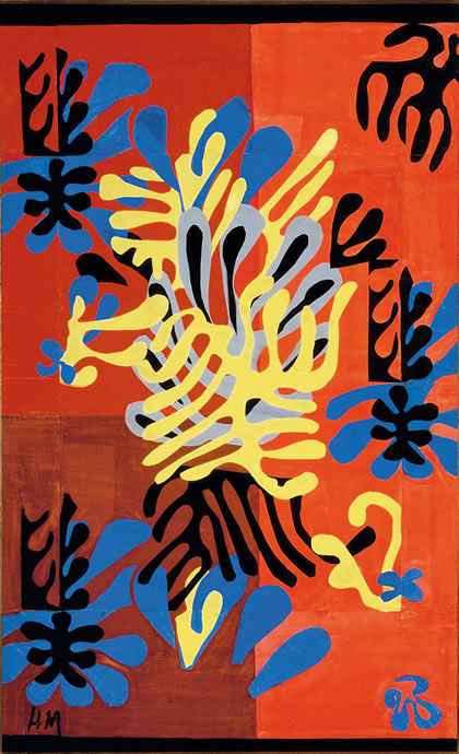 Henri Matisse, Mimosa, 1949-51, Gouache on paper, cut and pasted, mounted on canvas (Ikeda Museum of 20th Century Art, Ito, Japan)