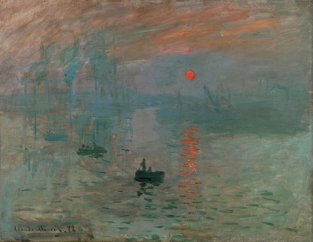 Impression, Sunrise  ,  1872, oil on canvas, Claude Monet, (Image courtesy of the Musee Marmottan)