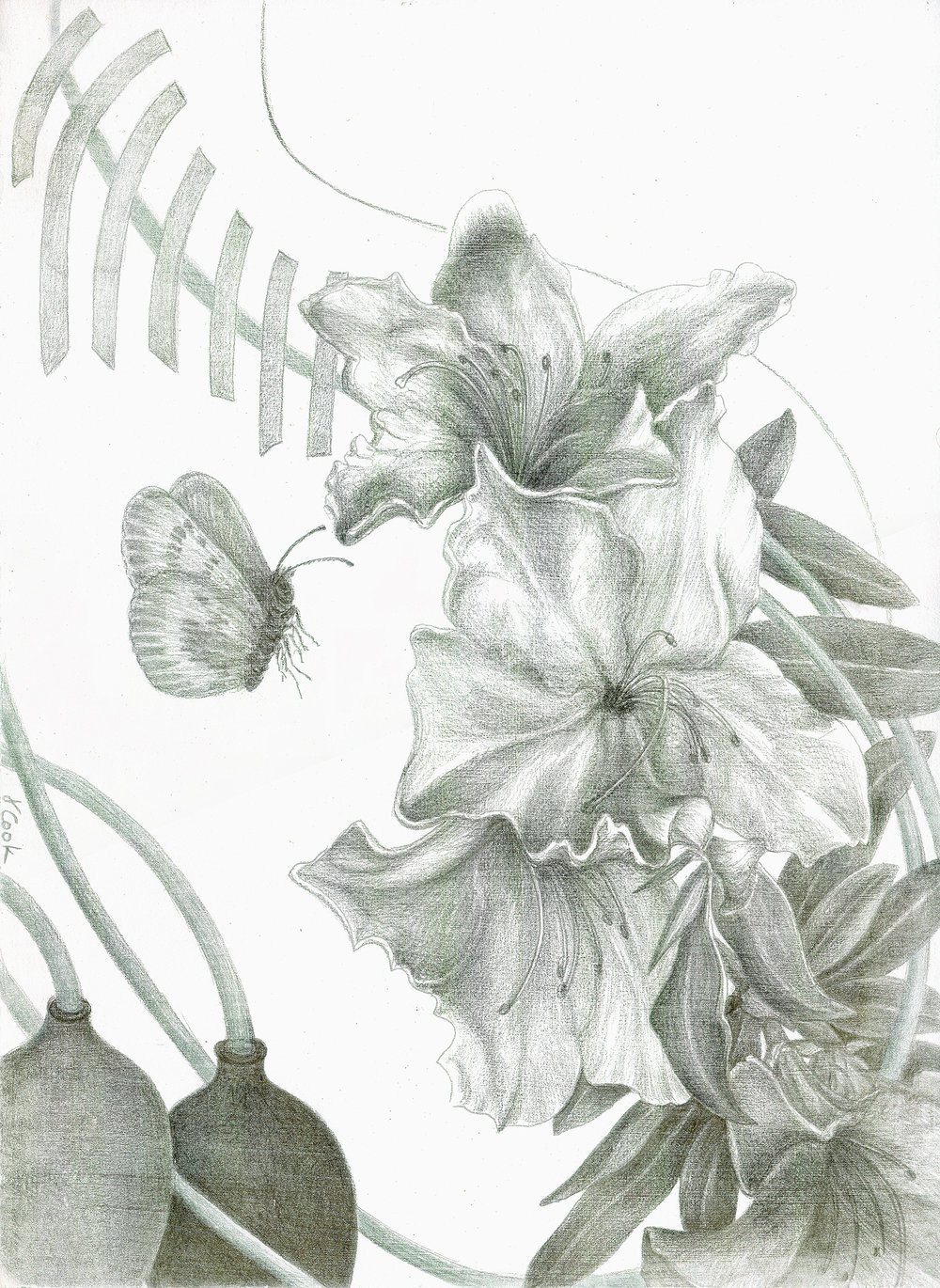 recovery from Surgery, silverpoint, Jeannine Cook artist