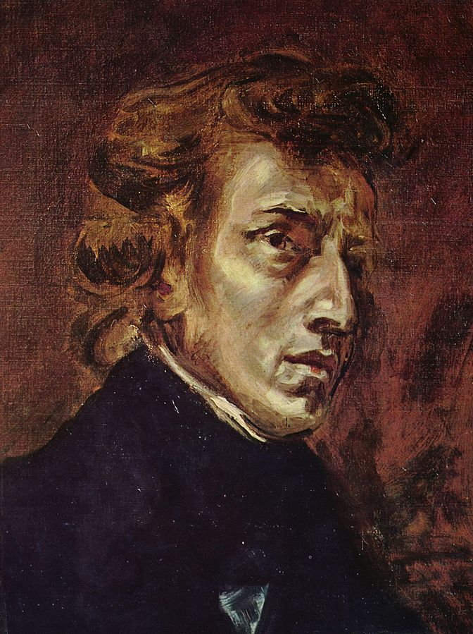 Portrait of Frédéric Chopin   (originally part of a larger painting showing Chopin and Georges Sand), 1838, oil on canvas, Eugene Delacroix (Image courtesy of the Louvre, Paris)
